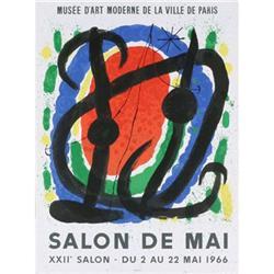 "Joan Miro ""XXII Salon De Mai"" Exhibition, 1966 #2376256"