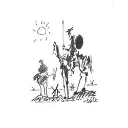 Picasso   Don Quixotte, 10-3-1955 #2376259