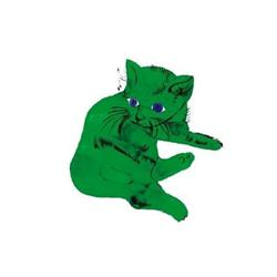 Andy Warhol Cat (Green) #2376277