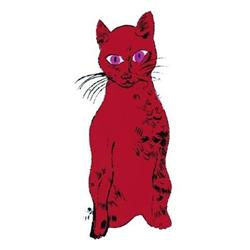 Andy Warhol Cat (Red) #2376279
