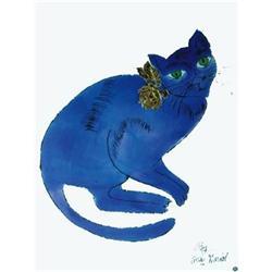 Andy Warhol Cat (Blue) #2376281