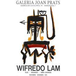 Wilfredo Lam Galeria Joan Prats 1976 Lithograph#2376299