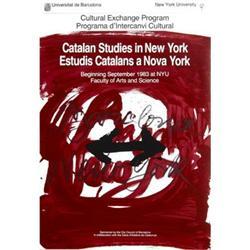 Antonio Tapies Catalan Studies In New York 1983#2376302