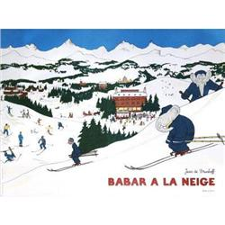 Jean De Brunhoff Babar A La Neige Offset#2376307