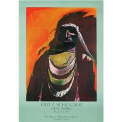 Fritz Schoelder Sunset Indian Offset Lithograph#2376322