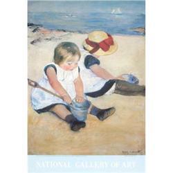 Mary Cassatt Children Playing on the Beach#2376326