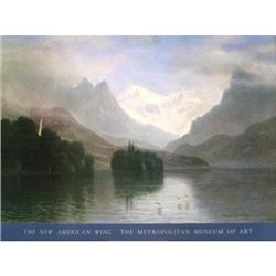 Albert Bierstadt Mountain Scene Offset#2376339