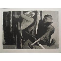 Benton Spruance The Samuel Enderby Lithograph #2376386