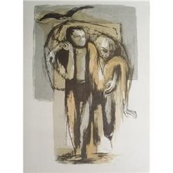 Benton Spruance Ahab and Starbuck Lithograph #2376396