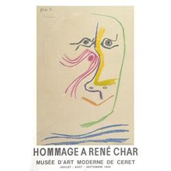 Pablo Picasso Hommage A Rene Char Lithograph #2376413