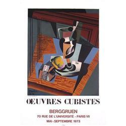 Juan Gris Still Life, Ouevres Cubistes, 1973#2376415