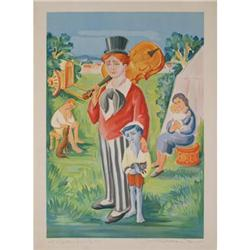 Jean Lareuse The Circus Family Lithograph #2376417