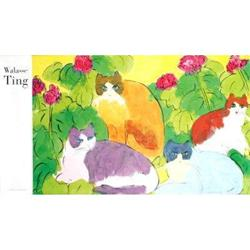 Walasse Ting 4 Cats Offset Lithograph #2376529