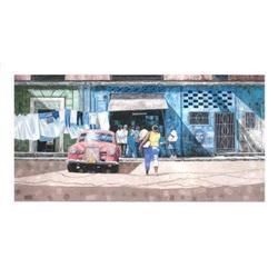 Dwight Baird Pink Mercedes with blue market #2376535