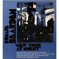 Romare  Bearden New York at Night, unsigned#2376538