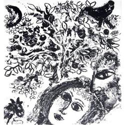 Marc Chagall Couple beside tree (Couple pres de#2376563