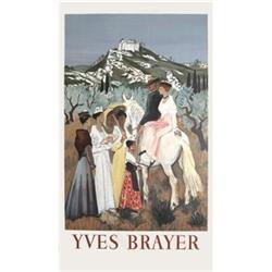 Yves Brayer Sunday horse rides Lithograph #2376599