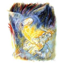 Reuven Rubin Biblical Scene Lithograph #2376606