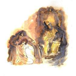 Reuven Rubin The King Lithograph #2376607