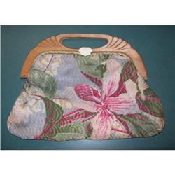 Barkcloth Knitting Bag/Purse #2376628