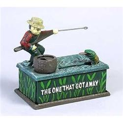 CAST IRON FISHERMAN BANK * NEW #2376661