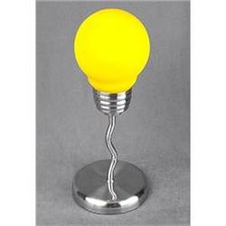 YELLOW LIGHTBULB LAMP / ART DECO NEW #2376670