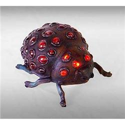 ART DECO RED DOT LADYBUG LAMP #2376674