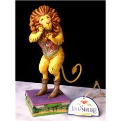 JIM SHORE COWARDLY LION STATUE / WIZARD OF OZ #2376682