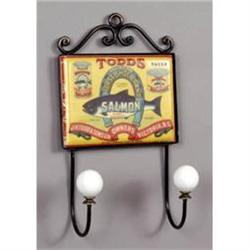 TODD'S SALMON KITCHEN WALL HOOK PLAQUE  #2376693
