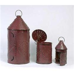 3 PAUL REVERE METAL LANTERNS SET / NEW #2376699