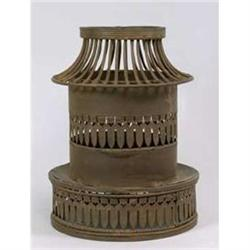 METAL CONTEMPORARY PILLAR CANDLE HOLDER / NEW #2376700