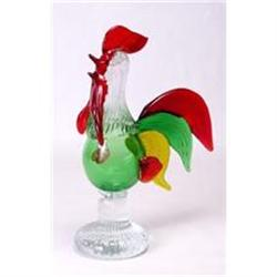 GLASS MULTICOLORED ROOSTER SCULPTURE #2376704