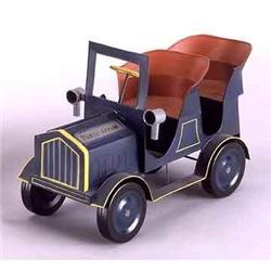 TIN LIZZY CAR / AUTOMOBILE / BLUE HAND PAINTED #2376708