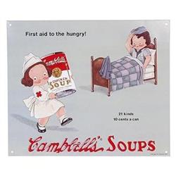 CAMPBELL SOUP METAL KITCHEN SIGN / NEW #2376714