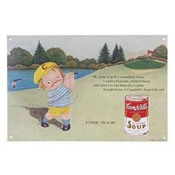 CAMPBELL SOUP METAL GOLF SIGN / NEW #2376715