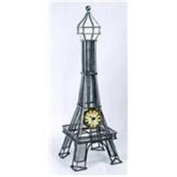 FRANCE EIFFEL TOWER  CLOCK / WIRE MESH NEW #2376749