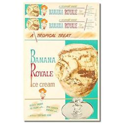 old vintage BANANA ROYALE ICE CREAM soda sign #2376762