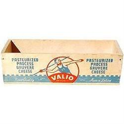 old vintage 1930s Valio Wood Cheese Box #2376772