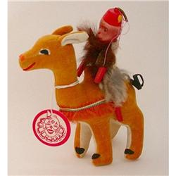 old CELLULOID MONKEY DOLL on CAMEL carnival toy#2376792