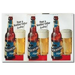 VINTAGE KOEHLER PILSENER BEER STORE SIGN Bottle#2376800