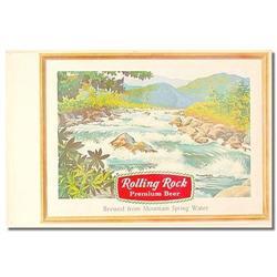 VINTAGE ROLLING ROCK BEER SIGN POSTER #2376801