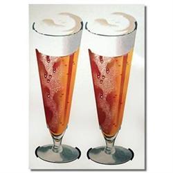 VINTAGE BEER SIGN ~ glass MUG POSTER #2376804