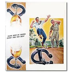 VINTAGE BEER SIGN ~ HORSESHOE PLAYERS #2376805