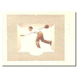 MALE BOWLING POSTER SIGN  ~ vintage ice cream #2376813