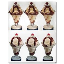 GIANT ICE CREAM SUNDAES Sign ~ store display #2376816
