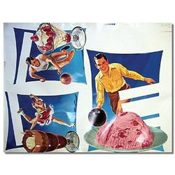 1953 SPORTS ICE CREAM STORE SIGN POSTER ~ #2376825