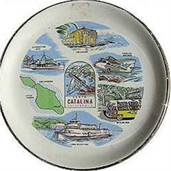 old 1950s SANTA CATALINA ISLAND SOUVENIR PLATE #2376840