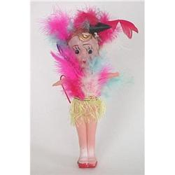 VINTAGE CELLULOID CARNIVAL GIRL DOLL TOY  #2376841