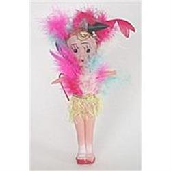 old 1950s Celluloid Carnival Girl Toy Doll #2376854