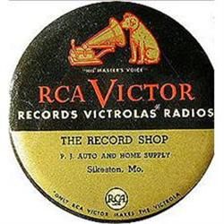 old vintage 1940s RCA RECORD DUSTER ~ celluloid#2376856